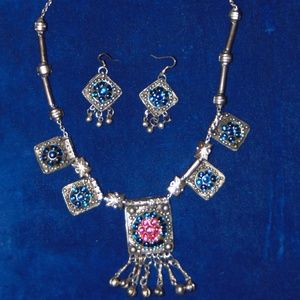 Vintage Banjara Necklace with matching Earrings